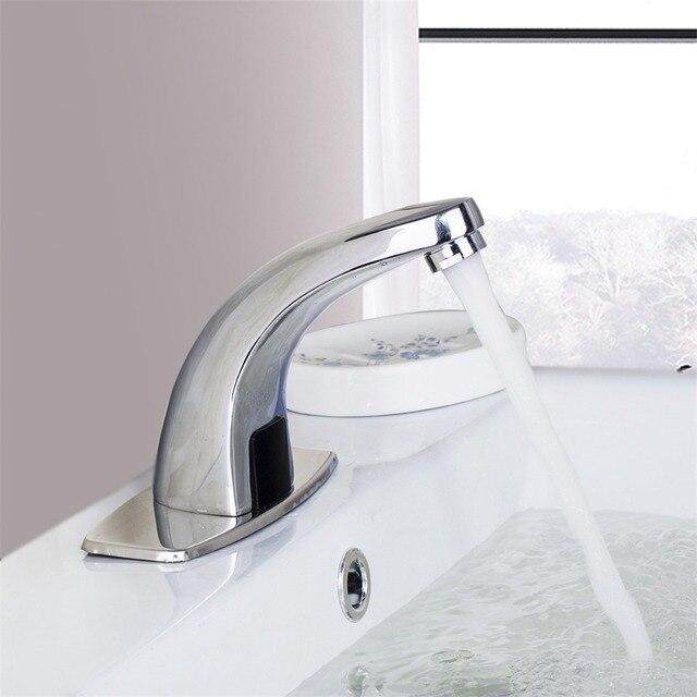 Polished Chrome Waterfall Bathroom Sense Water Taps Brass Automatic ...