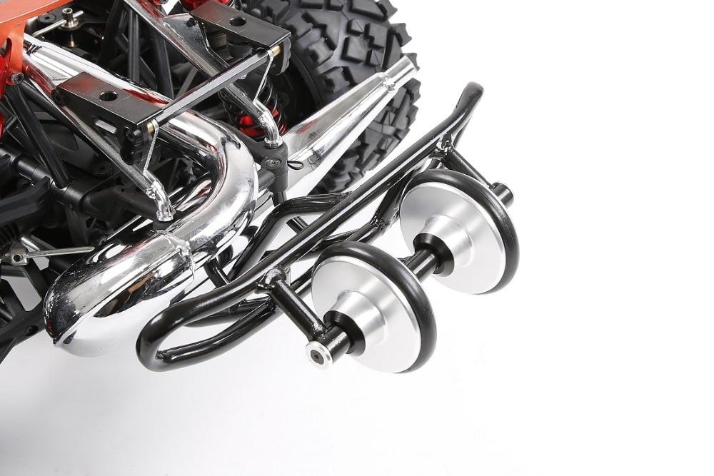 Baja rear wheel bar wheelie bar with Double wheel for HPI BAJA 5B KING MOTOR ROVAN