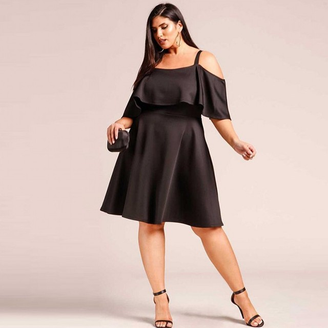 Cheap Dresses A Line Xl Xxxl Plus Size Christmas Dress Fashion Black
