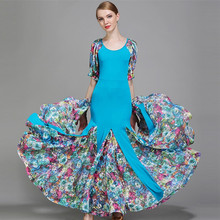 3 colors  standard ballroom dress luminous costumes dresses for ballroom dancing dress waltz tango flamenco dress