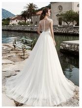 SoDgine White Ivory Bridal Dress 2019 Lace Top Wedding Dresses Romantic Vestido de noiva  Floor Length gown