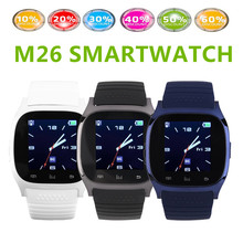 Smart Uhr M26 Drahtlose Bluetooth 4,0 Smartwatch Smart Armbanduhren Digitaluhren Sync Telefon Kamerad Für IOS Apple iPhone Android-Handy