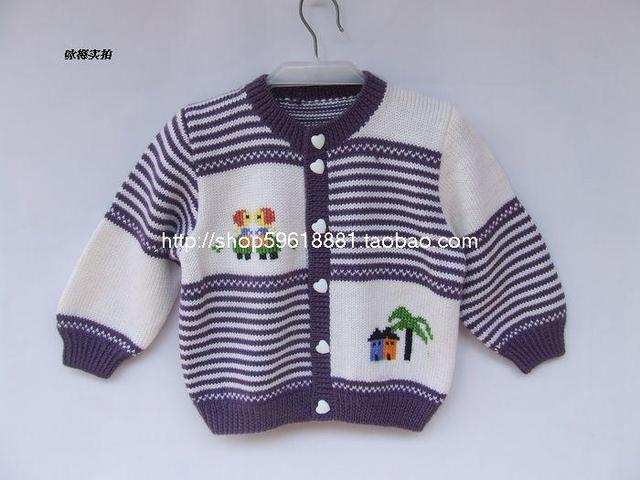 Hand Woven98clothing For Baby Boys Girl Knitted Sweater Spring