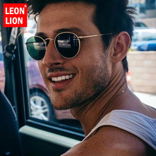 LeonLion Round Sunglasses Men/Women 2019 Mirror Retro Men Vintage Glasses Luxury Sun Metal Oculos De Sol