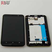 Хорошее Used parts 1280×720 lcd screen display with touch screen panel digitizer assembly + frame replacement For ASUS Zenfone 2 ZE550ML