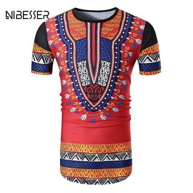 Bekannt NIBESSER Men T Shirt Summer Short Sleeve Dashiki Traditional ZE31