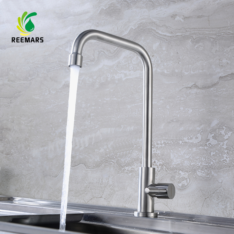 Genuine REEMARS Kitchen faucet Mixer Cold and Hot Kitchen Tap sink faucets single hole Single Hole