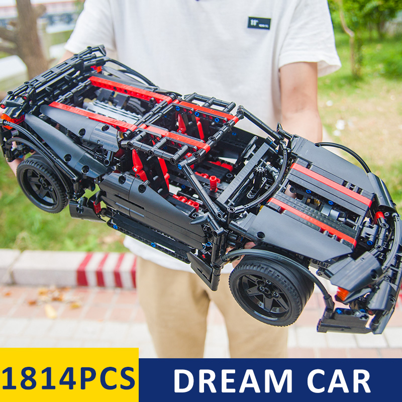New MOC Super Race Car Models Building Kits Set Blocks Bricks Legoinglys technic 42056 Kids Boys Christmas Gift Educational Toys