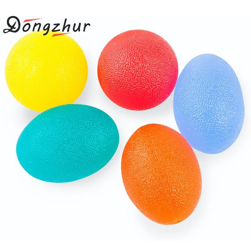 1pc Silicone Egg Fitness Hand Expander Gripper Strengthener Forearm Wrist Finger Exerciser Trainer Stress Relief Power Ball image