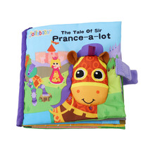 Baby Rattles Toy Quite Soft Educational Cloth Book Embroidery Animals Cribs StuffedToys toy 0-24 Months Development N4