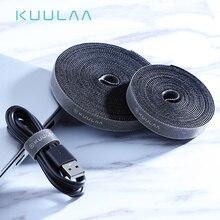 KUULAA Кабельный органайзер провода зажим для намотки наушников Держатель мыши шнур протектор HDMI кабель управление для iPhone samsung USB кабель