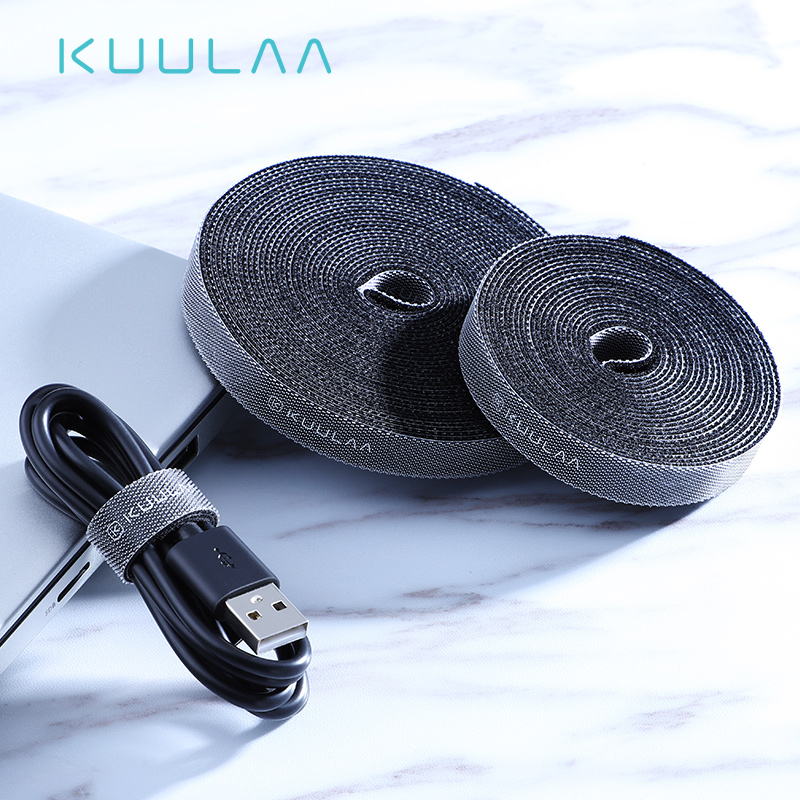KUULAA Cable Organizer Wire Winder Clip Earphone Holder Mouse Cord Protector HDMI Cable Management For IPhone Samsung USB Cable