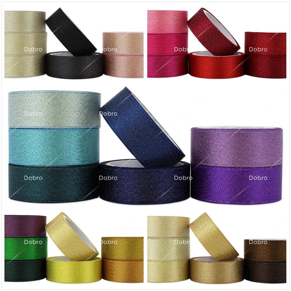 35 Colors Gold Purl Satin Ribbon 3 6 9 16 22 38mm - Өнер, қолөнер және тігін - фото 1