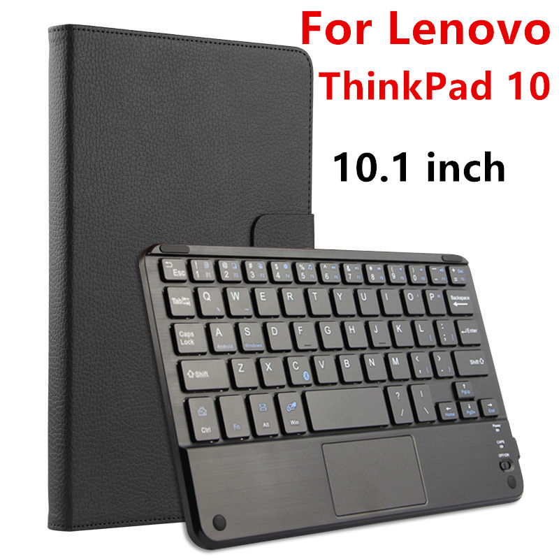 Case For Lenovo ThinkPad 10 GEN 1 Protective Wireless Bluetooth keyboard Smart cover Leather Tablet PC GEN1 1ND 10.1PU Protect ultra thin slim stand litchi grain pu leather skin case with keyboard station cover for lenovo ideapad miix 320 10 1 tablet pc