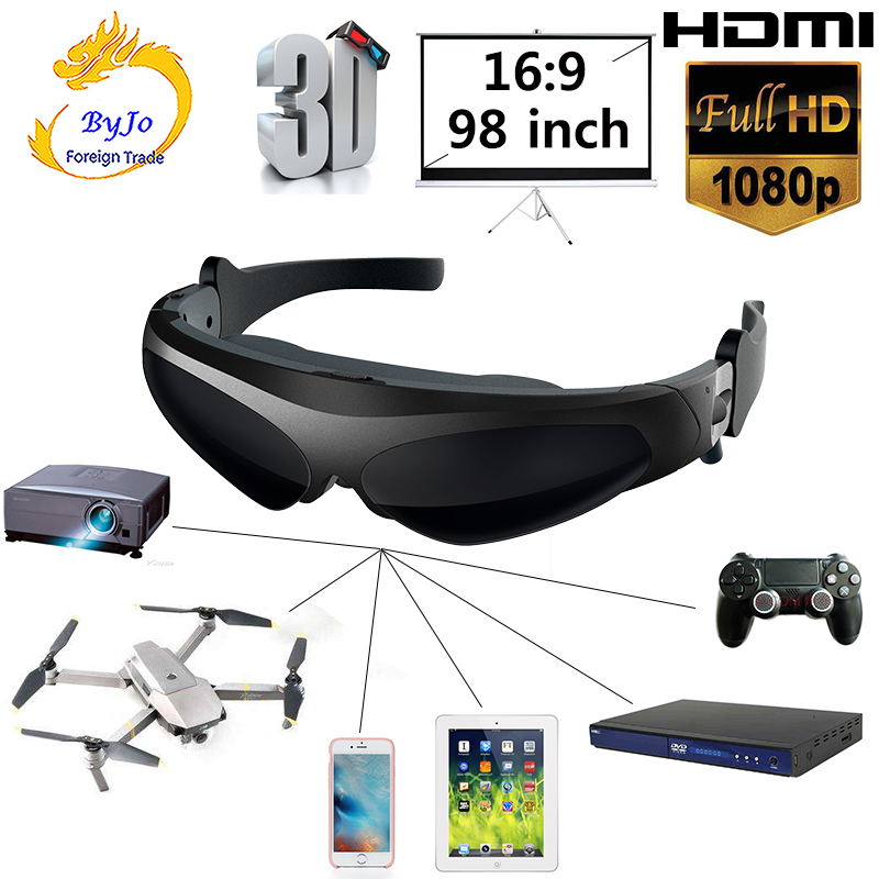 96d87e189e98 New HD922 FPV 3D Video Glasses 2 Meters Distance 98 Inches Virtual ...
