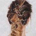 De las mujeres de La Boda Perlas de Arroz de Grano Forma Hairsticks Horquillas Tiaras Hechas A Mano Accesorios Hairwear Joyería Del Pelo de la Novia de Moda Cabeza