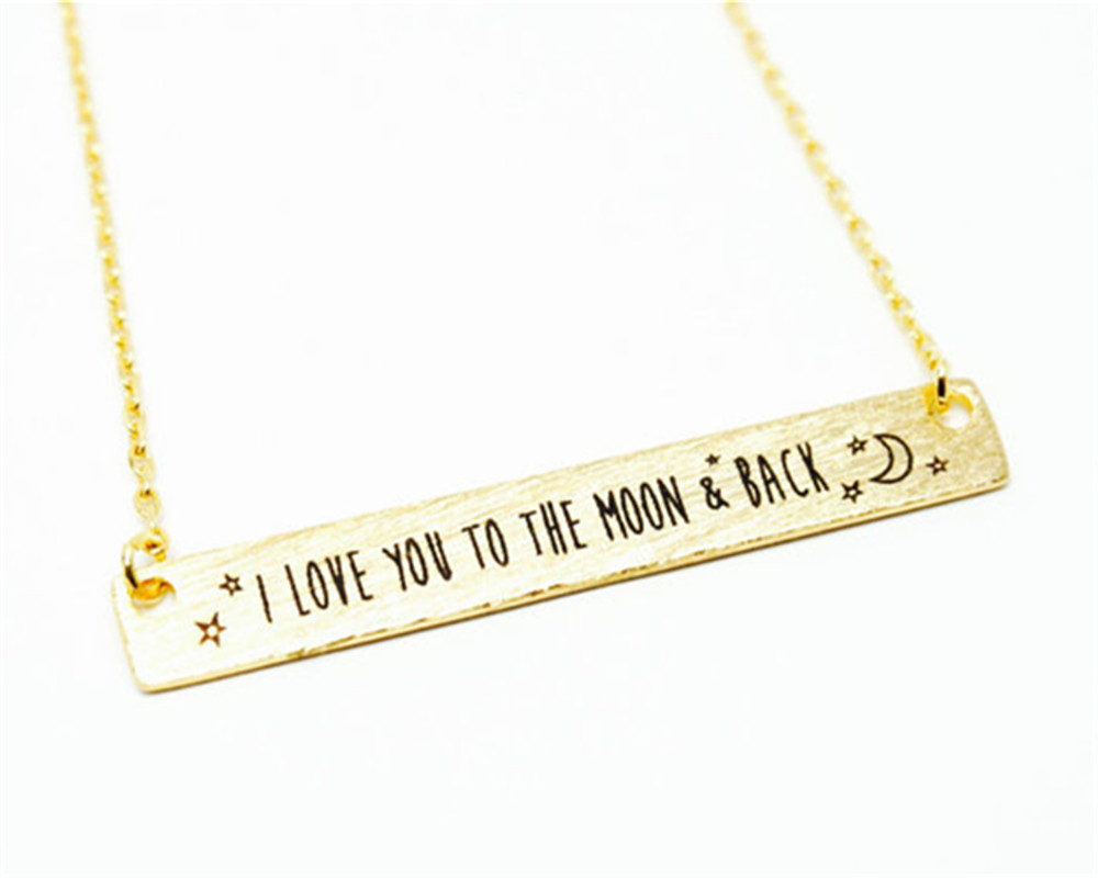 2017 hot sale i love you to the moon back necklace tiny bar 2017 hot sale i love you to the moon back necklace tiny bar necklace moon necklace for women birthday gift wedding in pendant necklaces from jewelry mozeypictures Images