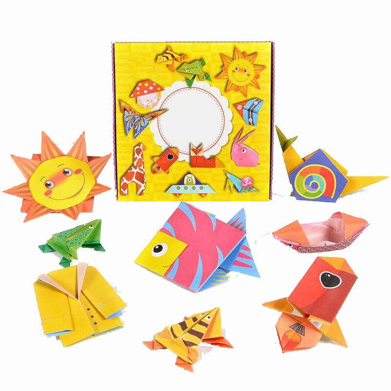 جديد 54 قطعة كتاب الأطفال اوريغامي للحيوان نمط ثلاثية الأبعاد الألغاز الاطفال DIY بها بنفسك ورقة الأطفال إنتاج التعلم التعليمية الحرفية لعبة