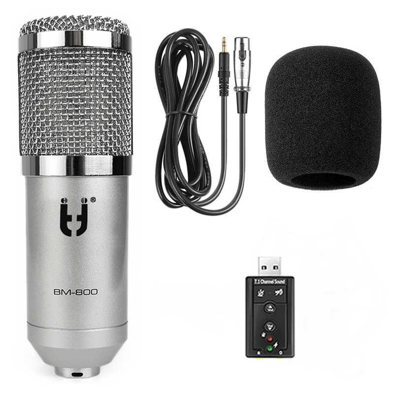 Brand Ituf Professional BM800 Computer Microphone 3.5mm Wired Condenser Sound Microphone For Recording Braodcasting BM-800 Mic