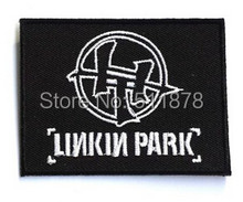 "3 ""linkin park music band biker vest patch ricamato il ferro sul patch heavy metal applique punk rock badge(China)"