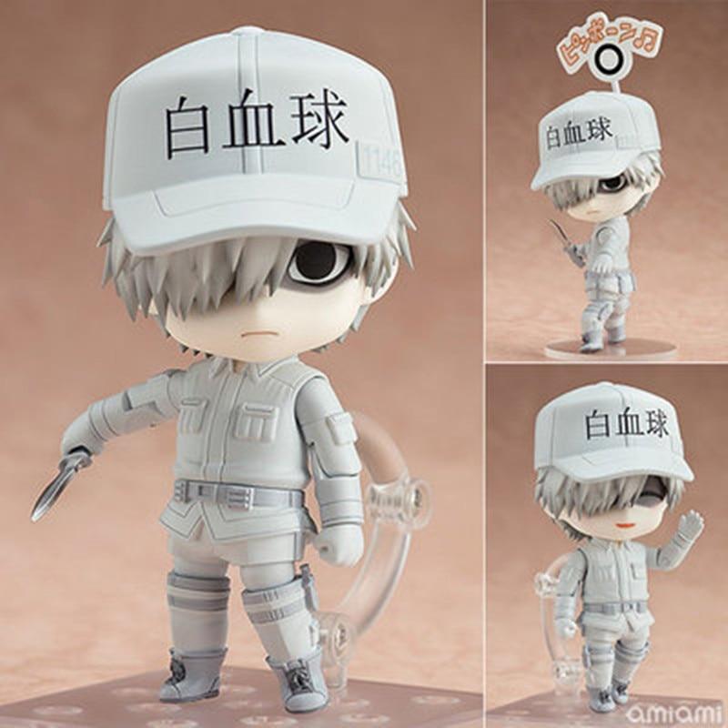 Japan Anime Nendoroid 979 Hataraku Saibou Cells at Work White Blood Cell Action Figures Toys