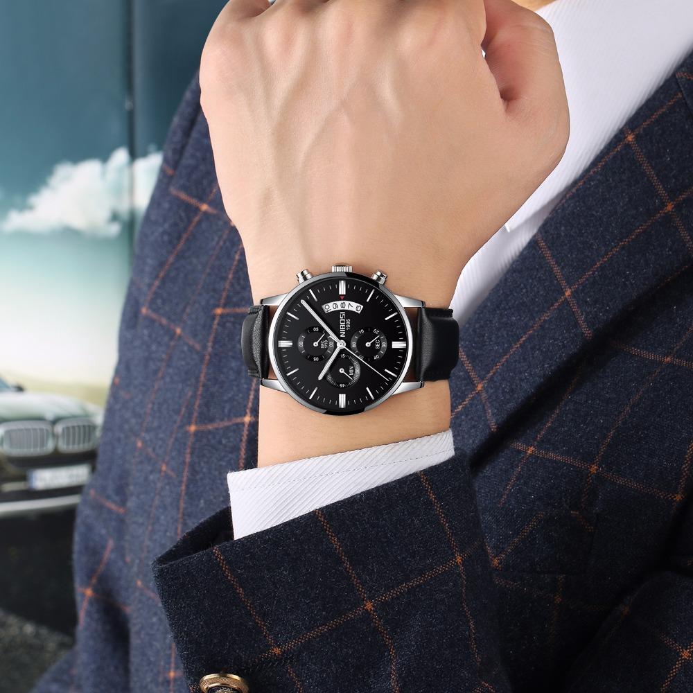 Relojes de hombre NIBOSI Relogio Masculino, relojes de pulsera de cuarzo de estilo informal de marca famosa de lujo para hombre, relojes de pulsera Saat 53