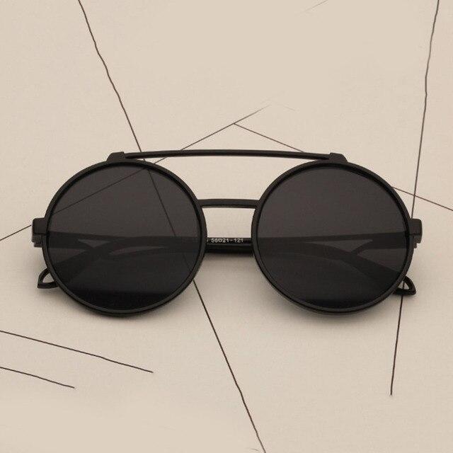5a0cec1b30c 2018 New Summer Flip Up Steampunk Sunglasses Men Women Round Vintage Mens  Sunglass Brand Designer Fashion