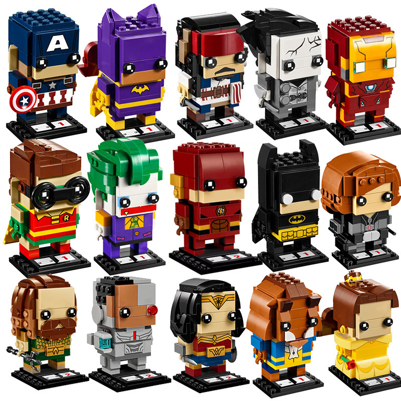 NEW brickheadz avengers Infinity War Marvels super heroes brick heads headz building blocks Compatible legoed kids toys set gift single sale chromed infinity gauntlet with 24pcs power stones vision super heroes building blocks children gift toys sy1099 2
