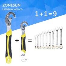 ZONESUN 2 UNID Multi-Función Universal de la Llave Set Snap y Llave de Agarre Set 9-32 MM Para Tornillos y Tuercas de Todas Formas y tamaños