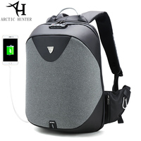 ARCTIC HUNTER School 15 6 Laptop Backpack Men Waterproof Mochila Casual Travel Business USB Back Pack