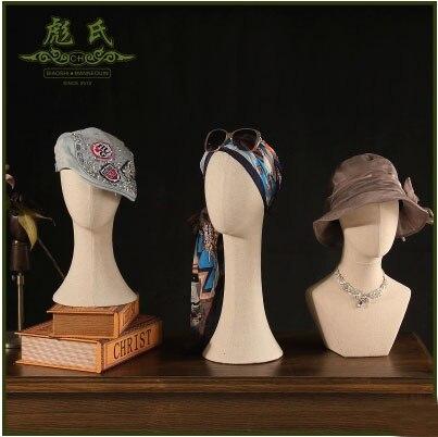Offre spéciale!! Nouveau Mannequin de tête de tissu modèle de tête d'affichage de haute qualité en vente