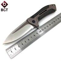 BGT Hunting Folding Knife 0801 Tactical Survival Pocket Knives D2 Blade Carbon Fiber Handle Ball Bearing