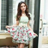 New-2014-Spring-Summer-Casual-Dress-Cute-Temperament-Chiffon-Short-Sleeve-Flower-Print-Dresses-With-Belt.jpg_200x200