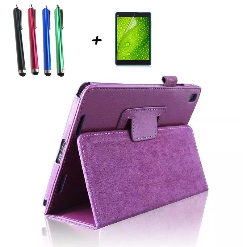 Tablet Protective Case Shell Skin For Xiaomi mi pad 1 mipad 1 PU leather stand tablet cover fundas MI A0101 case+Screen film+pen