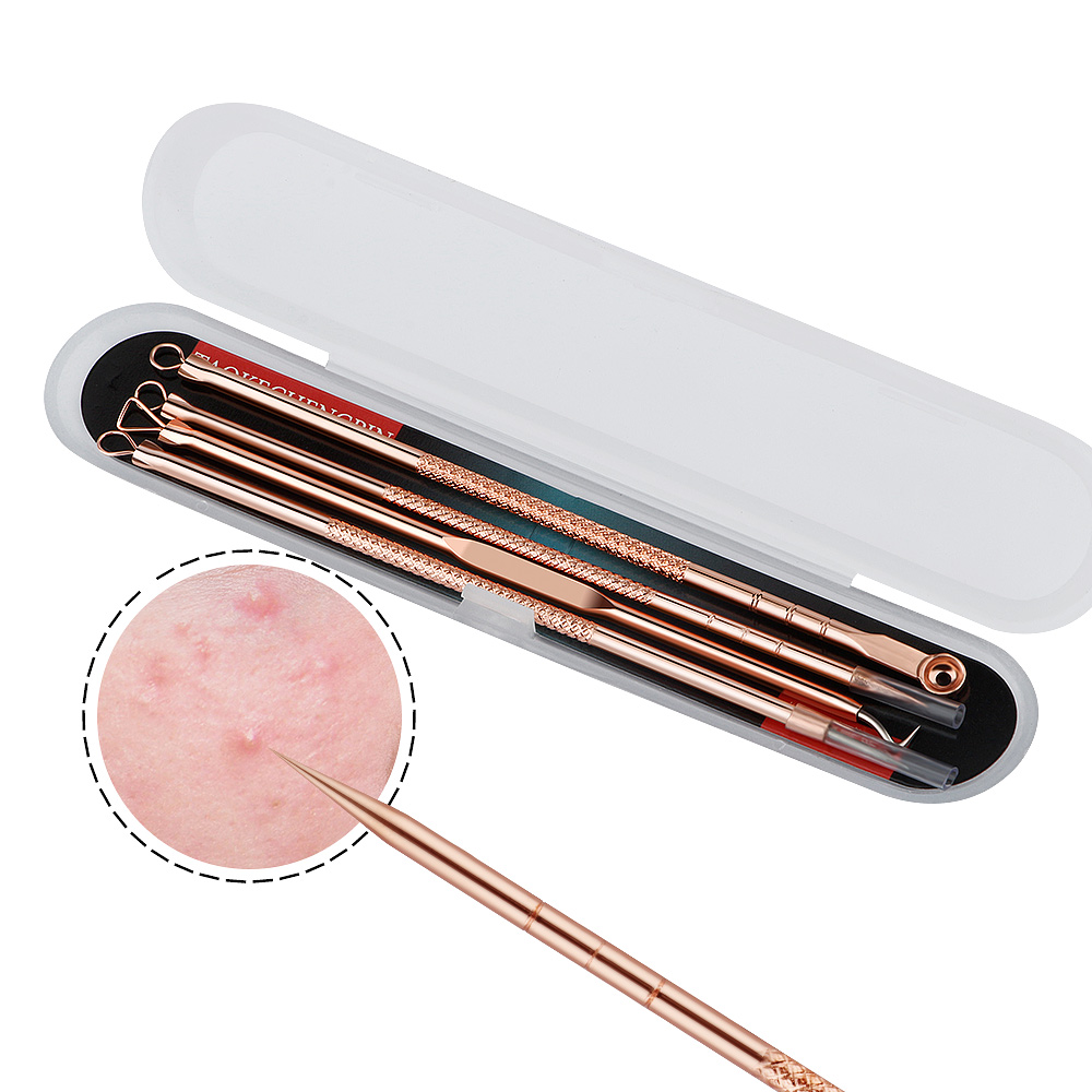 Anti-Bacterial Skin Care Double-ended Acne Needle Blackhead Remover Stainless Steel Pimple Facial Cleaning Tool