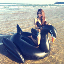 190x190cm inflatable swimming pool toys black swan swim ring pools adult kids baby toys large animal swimming pools