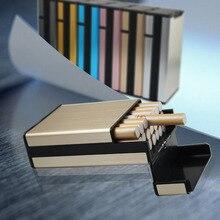 Лидер продаж, новинка, Модный чехол для сигарет с креативной личностью, тонкий металлический футляр для сигарет, алюминиевая Подарочная кор...