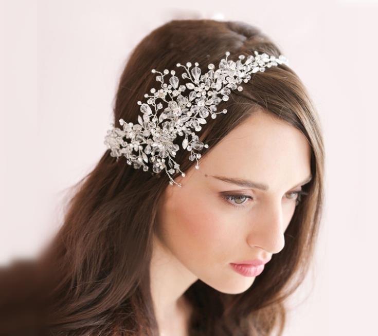 Crystal Wedding Headband Hair Accessories Bridal Headwear Jewelry Rhinestone Head Chain Headpiece Ornament Wigo0429 In From