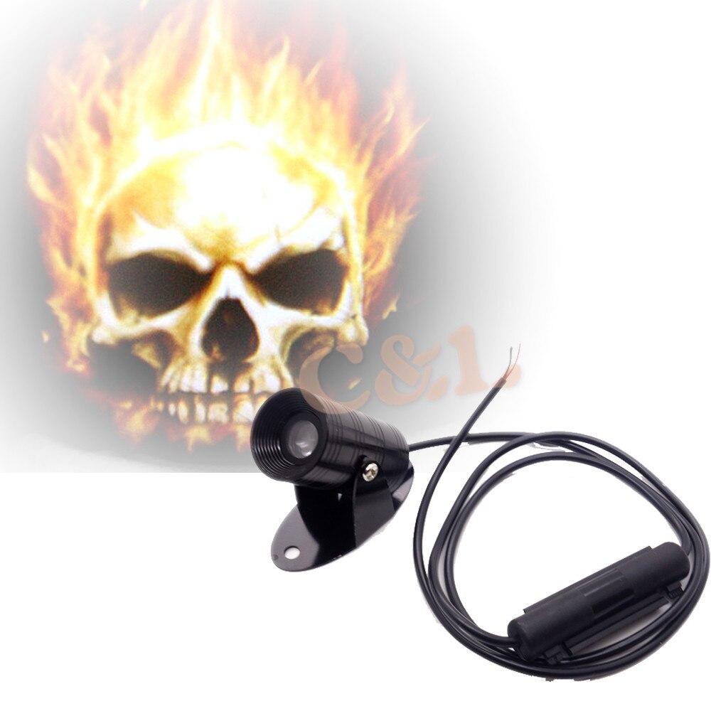 Honda motorcycles logo - New 3d Universal Hot Motorcycle Ghost Rider Skull Logo Laser Projector Led Light Warning Light Universal Kit