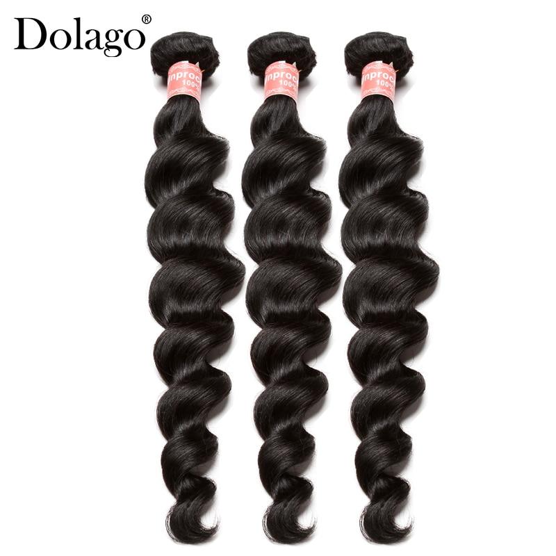 Loose Wave Bundles 3 Pcs Brazilian Hair Weave Bundles 100 Human Hair Extension Natural Color Remy