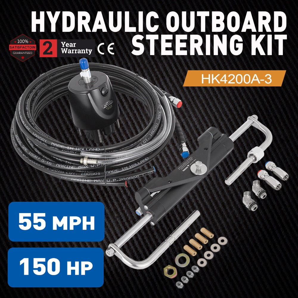 US $480 0 |factory direct sale 150hp outboard hydraulic steering kit  performance steering and easy installation accept REFUND and OEM-in Power