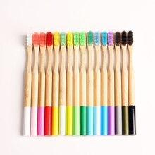 4 шт./кор. экологичный Бамбук Зубная щетка деревянная ручка зубная щетка отбеливающая взрослых уход за полостью рта низкоуглеродная мягкая щетина