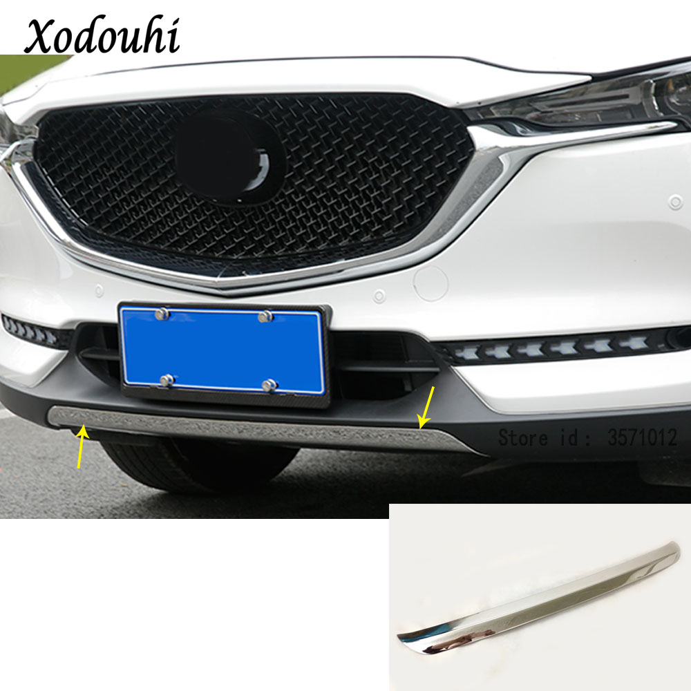 Car cover bumper engine Stainless steel trim Front bottom racing Grid Grill Grille 1pcs For Mazda CX-5 CX5 2nd Gen 2017 2018 цена