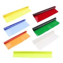 MagiDeal Filtro de Gel de efecto de Balance de Color para cámara Speedlite luz roja para estudio fotográfico luces LED de Flash estroboscópico