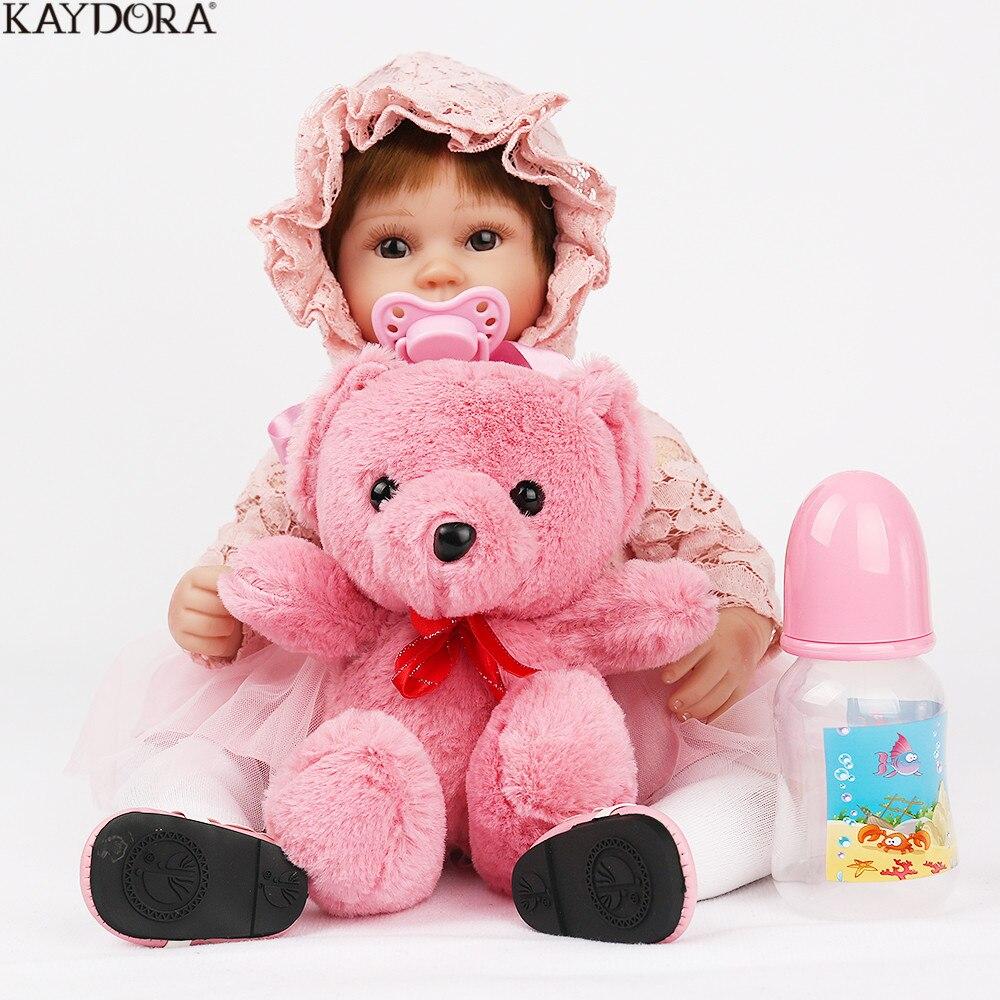 KAYDORA 40 cm Silicone Reborn bébé poupée nouveau-né réaliste princesse poupée 16 pouces jouets pour enfants jouets pour filles Bebe Reborn