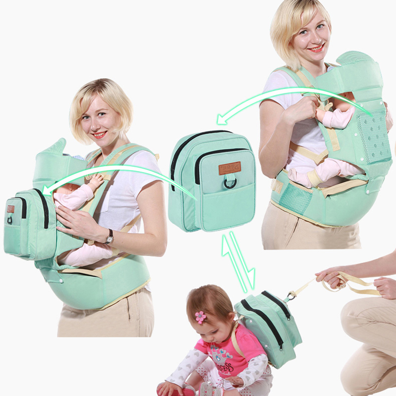 все цены на Baby Carrier 10 In 1 Multifunction Toddler Backpack Sling Kids Hip Seat Newborns Kangaroo Hipseat With Diaper Bag Loading 20kg онлайн