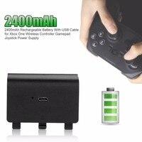 2400 mAh перезаряжаемый Аккумуляторный блок питания с usb-кабелем для Xbox One беспроводной контроллер геймпад джойстик блок питания