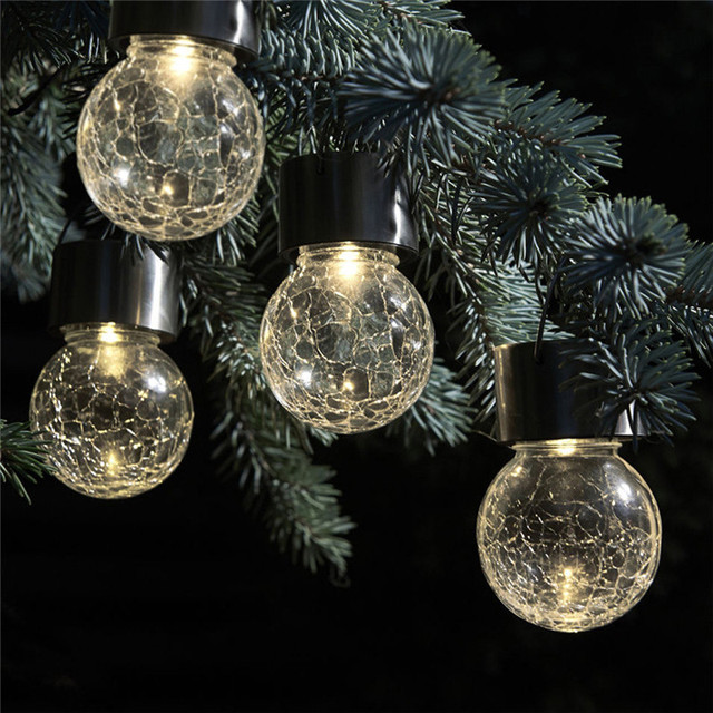 Delicieux Solar Powered Christmas Tree Decor Waterproof 6MM 30 Leds Crystal Bubble  Ball Light Wedding New Year