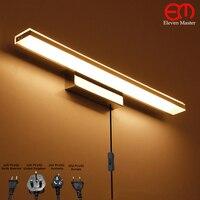 92cm Modern European with plug mirror cabinet light Bathroom LED Mirror Light AC100~240V Wall Lamp Acrylic wall light RML0015