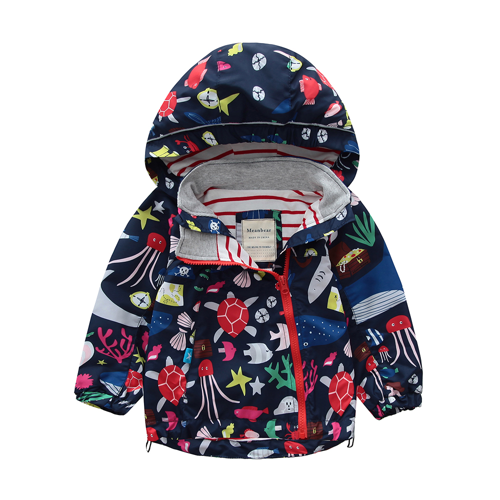 M104 Spring Autumn Fashion Boys Coat Hoodie Child Jacket Girls Tops Windbreaker Cartoon Print Thin Coat Summer Child Thin Jacket letter print raglan hoodie